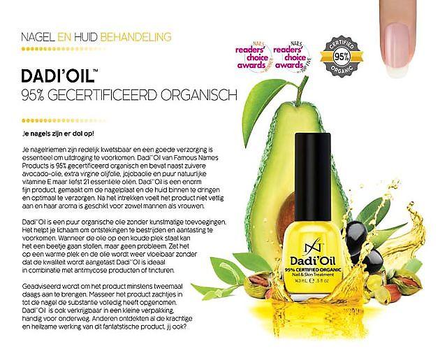 Goede verzorging met het juiste product - Dadi'Oil - Mirjam's Nagelstudio Beerta